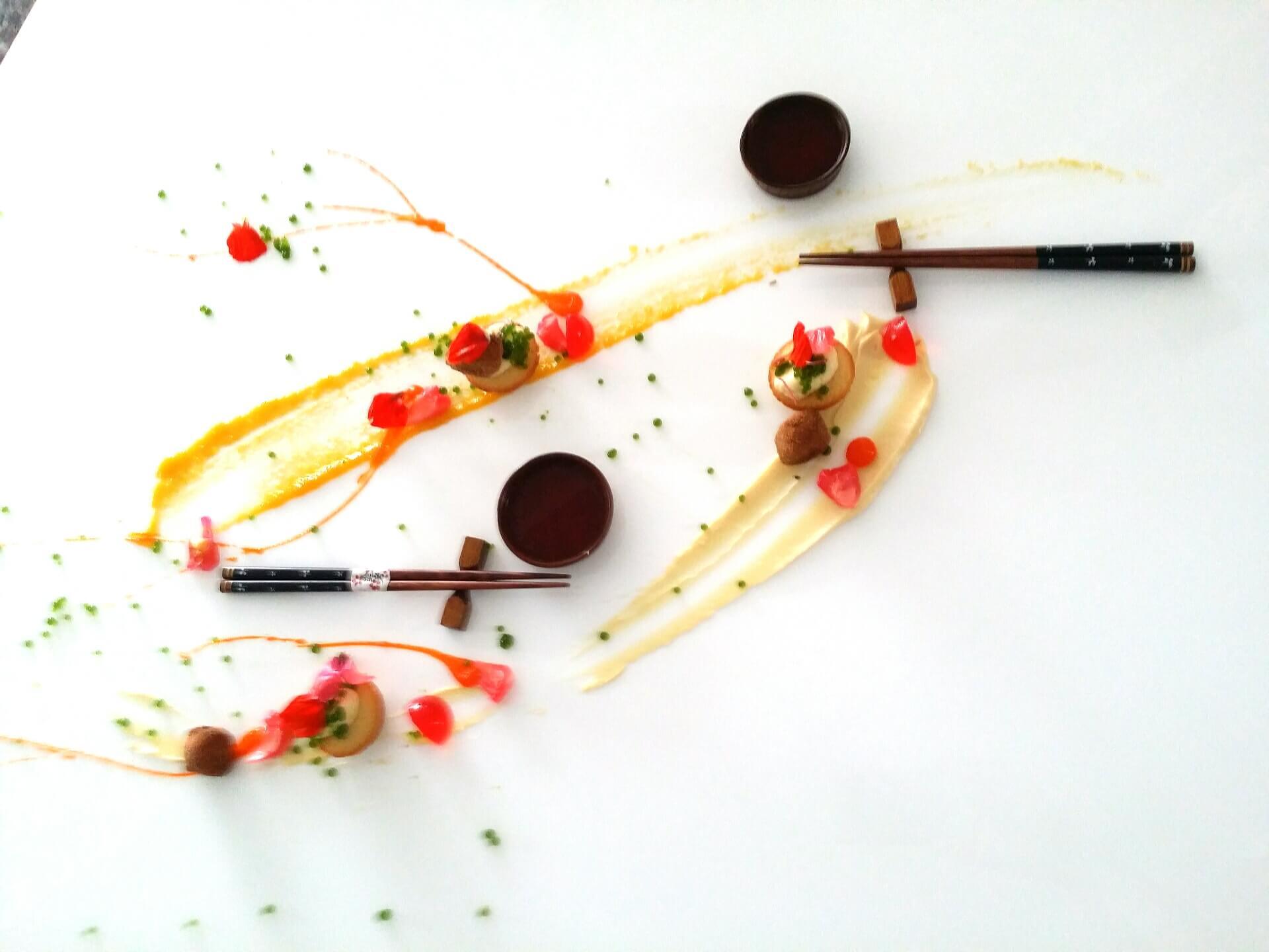 Dessert à l'assiette litchi-rose-soja by Vincent Catala Chef Pâtissier & Cuisinier/French Private Cuisine & Pastry Chef - Catering in Miami