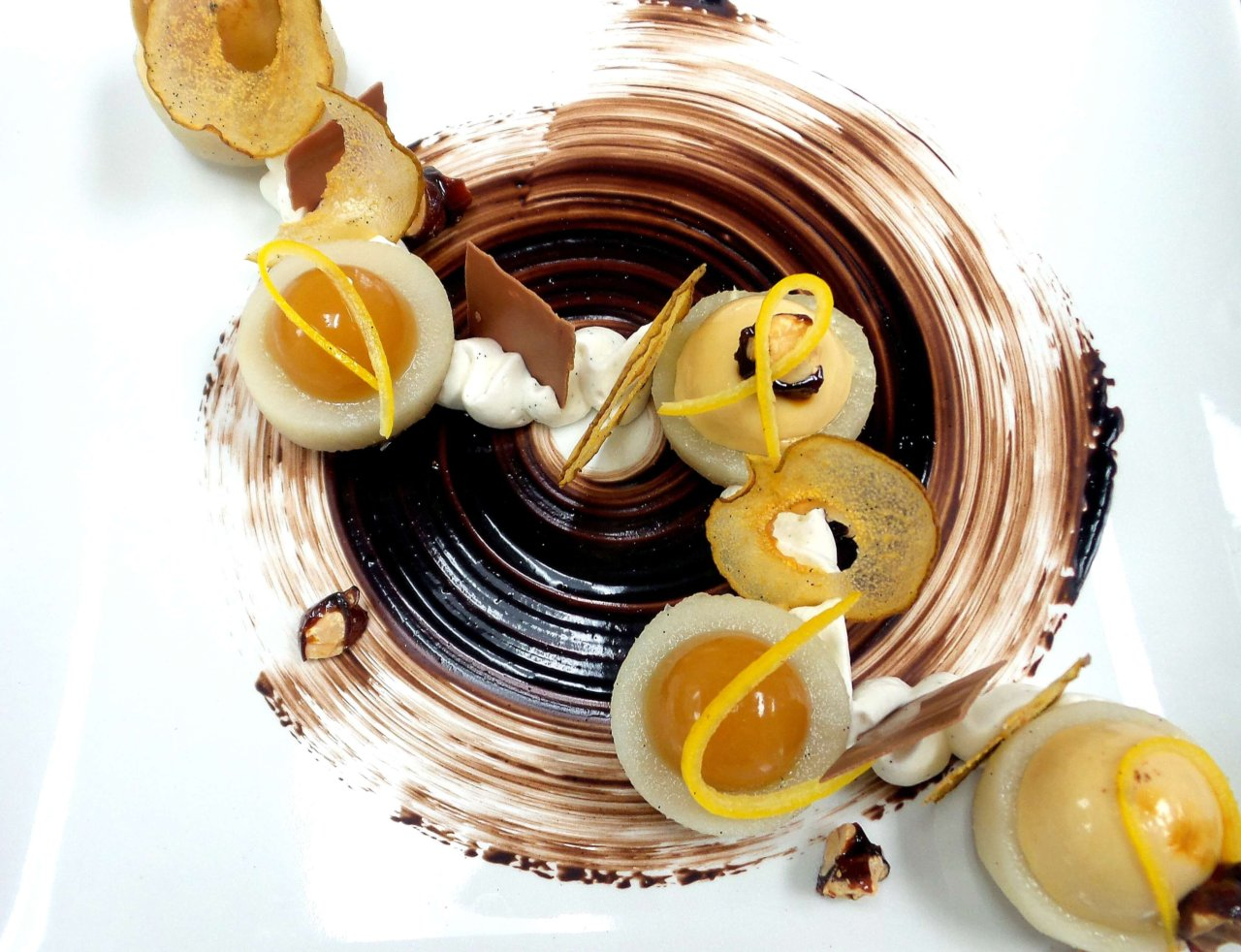 Poire Belle Helene by Vincent Catala Chef Pâtissier & Cuisinier\French Private Cuisine & Pastry Chef - Catering in Miami
