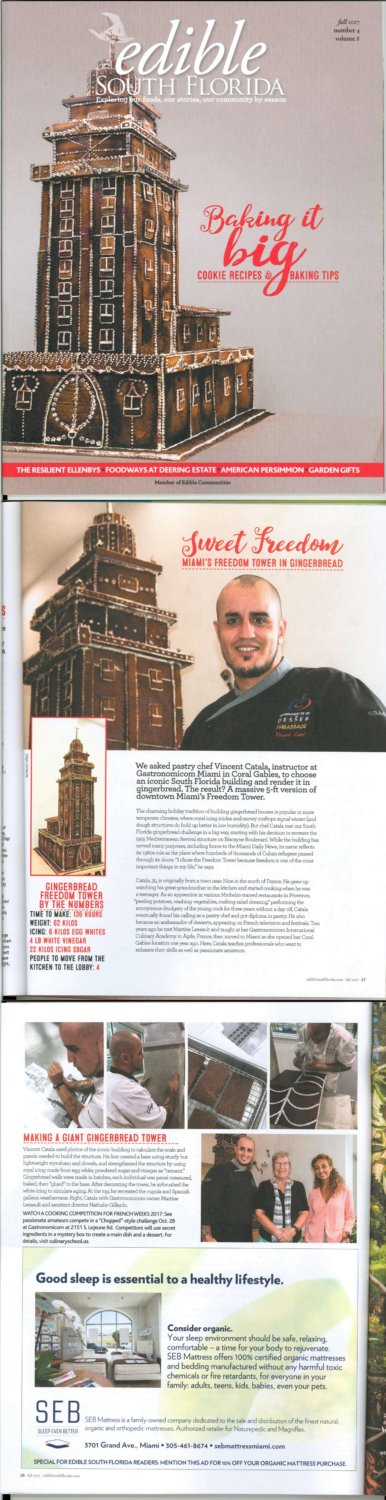 Edible magazine America with French Pastry Chef Vincent Catala in Miami