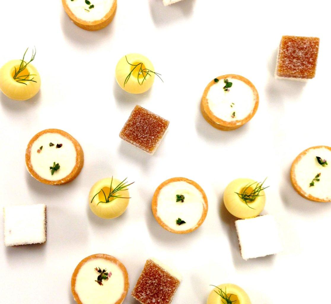 Mignardises by Vincent Catala Chef Pâtissier & Cuisinier (pâte de fruit guimauve - sphère chocolat blanc)/French Private Cuisine & Pastry Chef - Catering in Miami